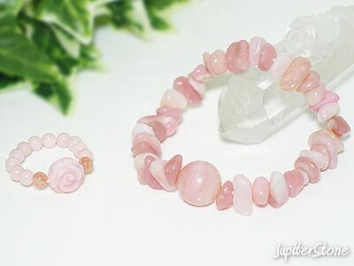 pinkopalbracelet-ring-set2